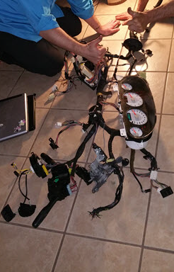 Figure 6: Reassembled electrical harness