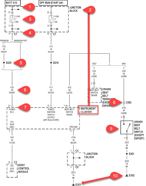 Belt Light Wiring Diagram - Wiring Diagrams on