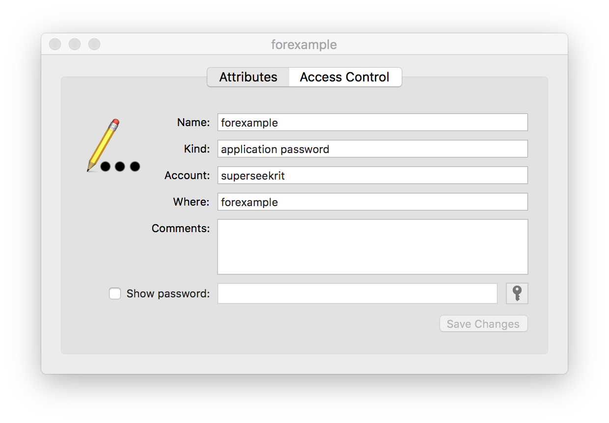 change keychain access password