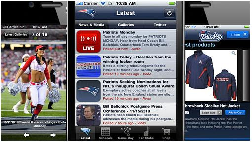 Adept Mobile brings the New England Patriots brand, content and products to mobile devices