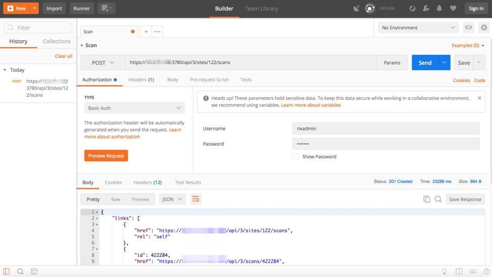 A RESTful API for InsightVM