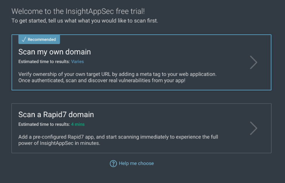 How to Scan Your Own Application with the InsightAppSec Free Trial