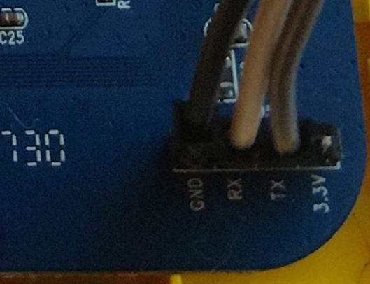 Figure 1: UART Circuit Board Markings