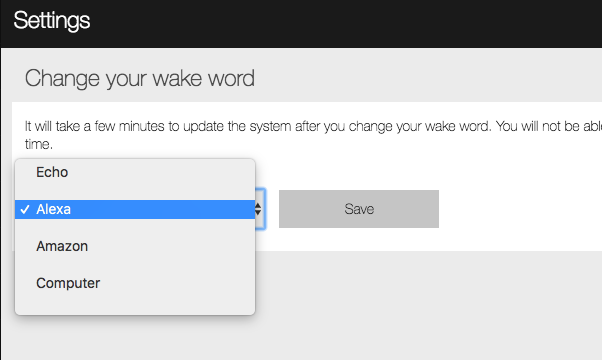 Figure 1: Change Wake Word