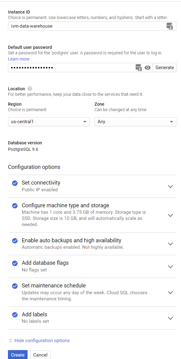 Head in the Clouds: Data Warehousing in the Google Cloud
