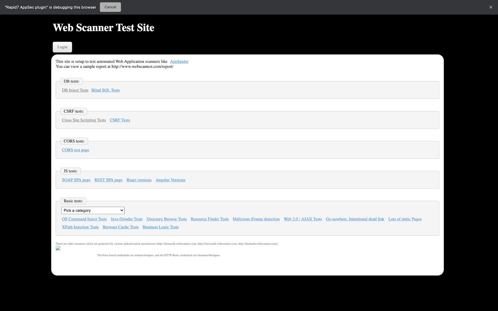 web-scanner-test-site
