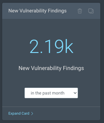 New vulnerability findings dashboard card in Rapid7 InsightVM