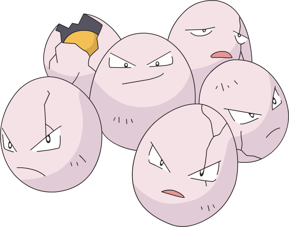 Exeggcute is not pleased with this poképun