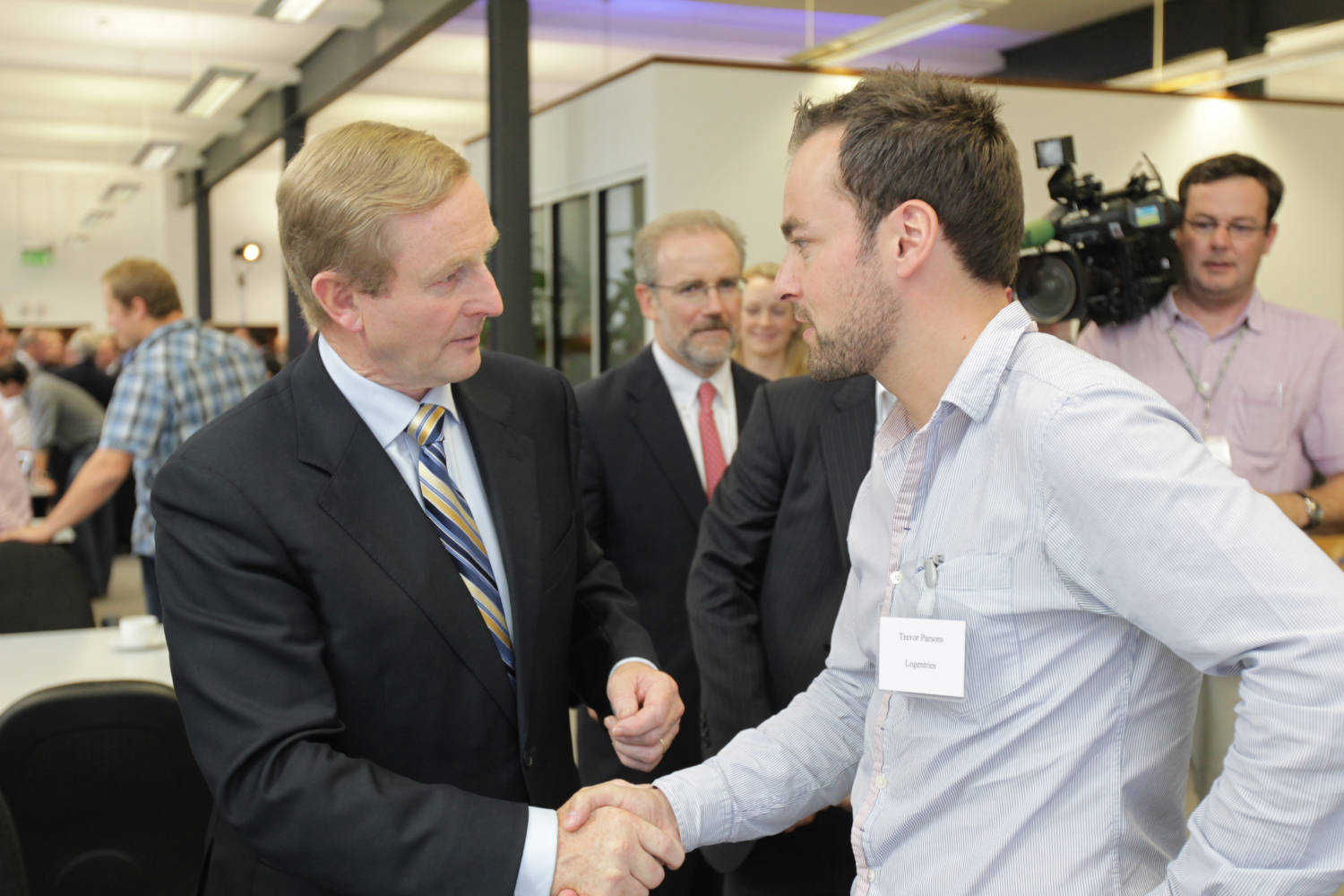 Enda Kenny with the Logentries Team