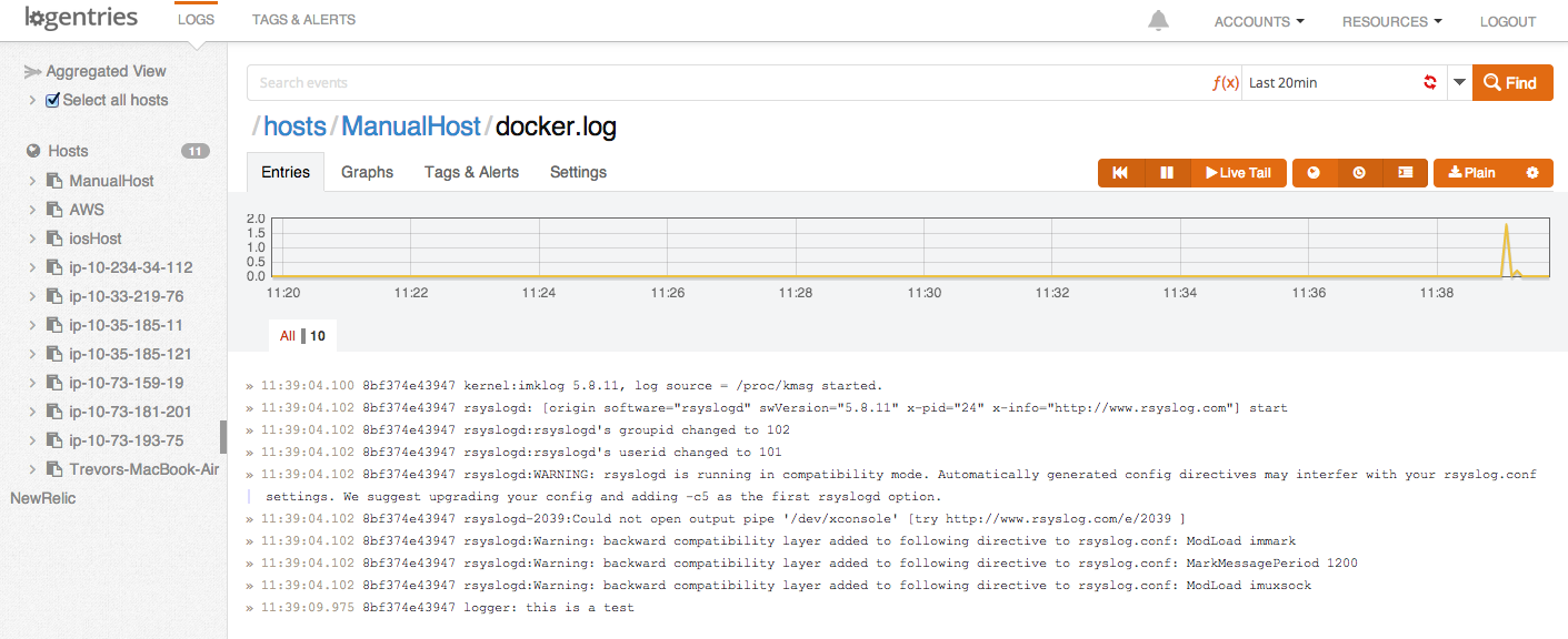 How To Run Rsyslog in a Docker Container for Logging