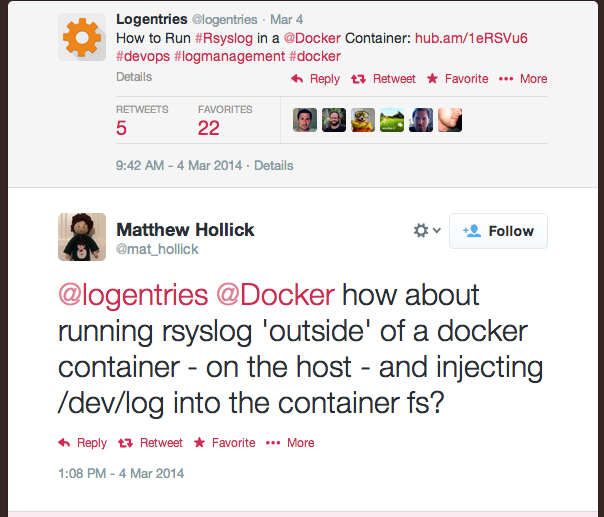 Logging on Docker