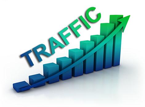 Monitoring web traffic using log data