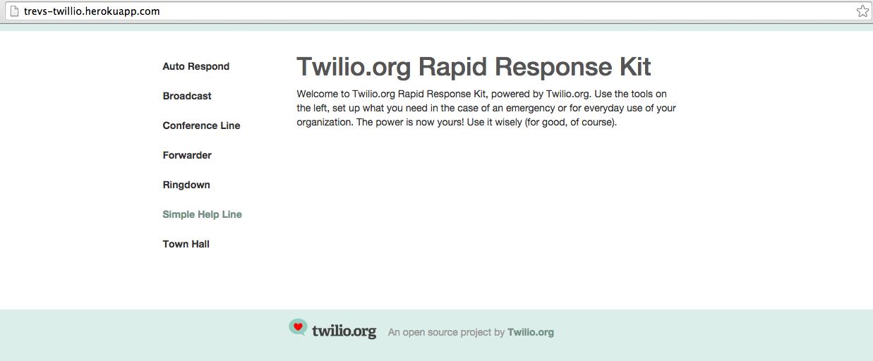 Heroku button sh Twilio.org