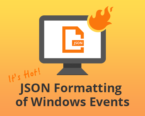 json formatting of windows events