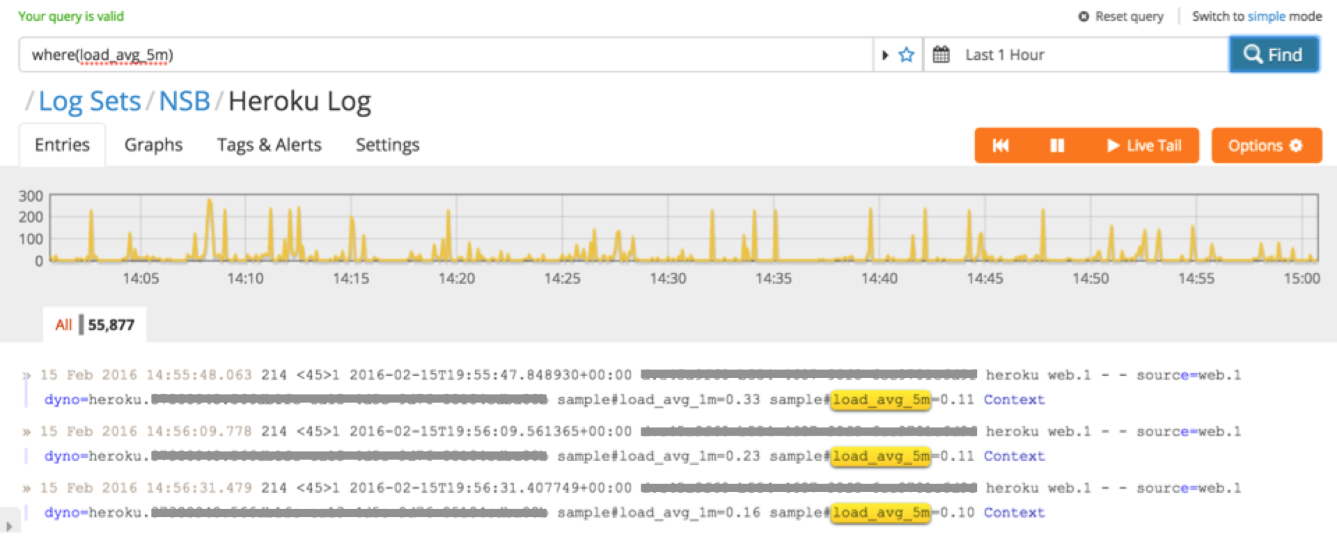 Analyzing Average Heroku Dyno Load with Logentries