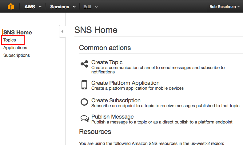 Figure 20: The SNS Home page
