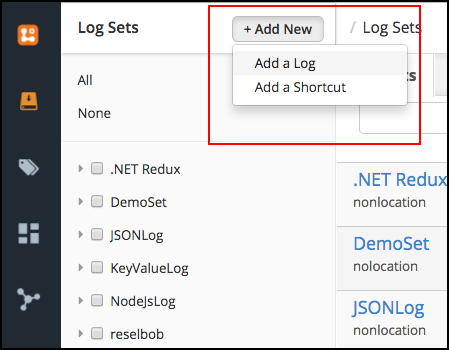 Figure 3: Create a Log to receive your message from AWS Simple Notification Services SNS.