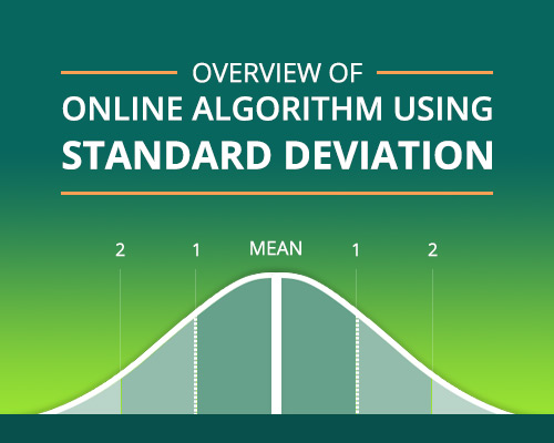 Overview of 'online' algorithm using Standard Deviation example