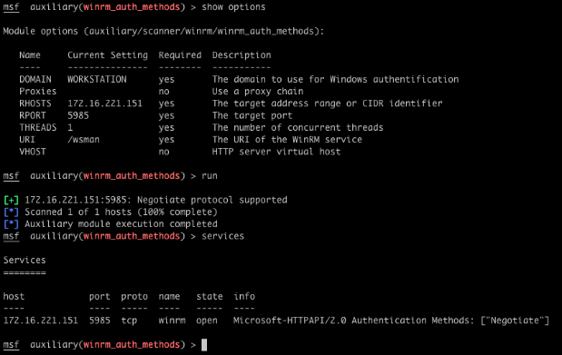 Abusing Windows Remote Management (WinRM) with Metasploit