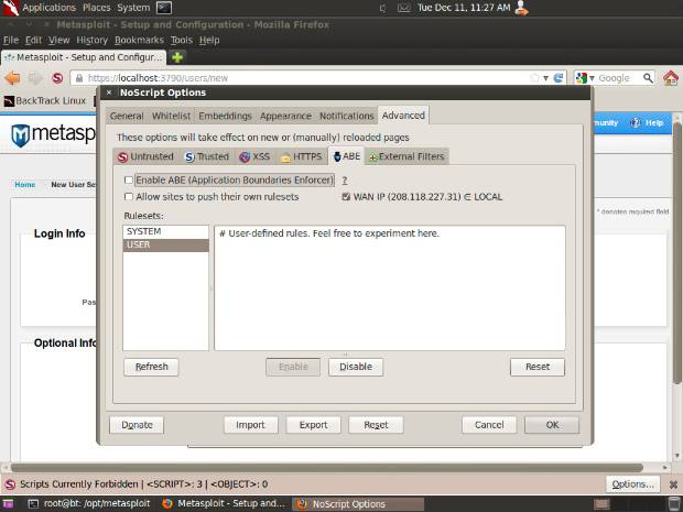 Using BackTrack 5 R3 with Metasploit Community or Metasploit Pro
