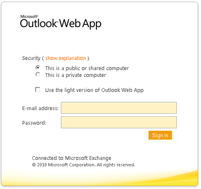 Simple Outlook Web Access Phishing