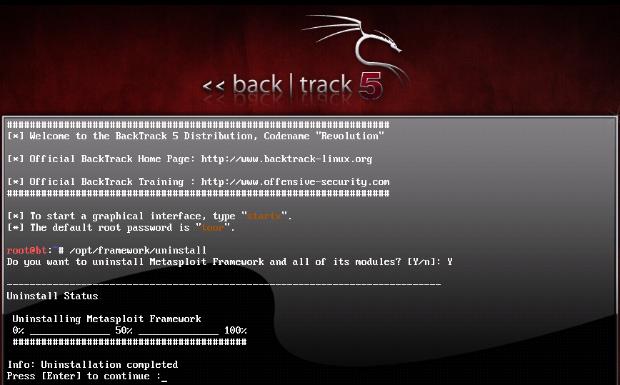 Installing Metasploit Community Edition on BackTrack 5 R1