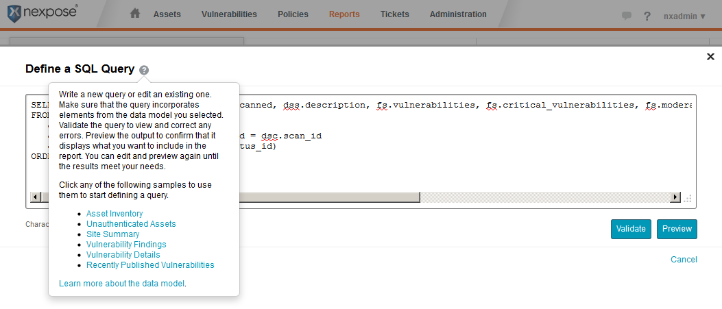 Nexpose Software Inventory