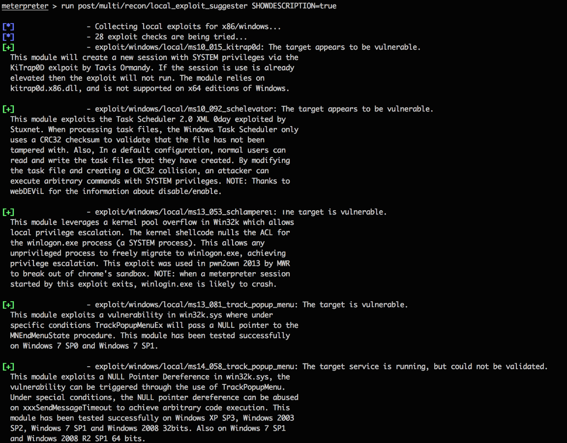 Metasploit Local Exploit Suggester: Do Less, Get More!