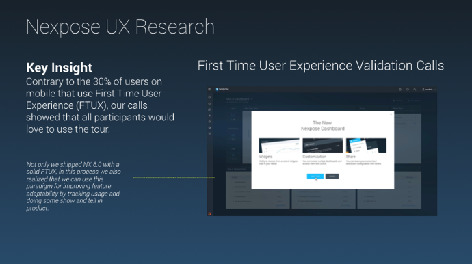 One of many key insights from UX Research