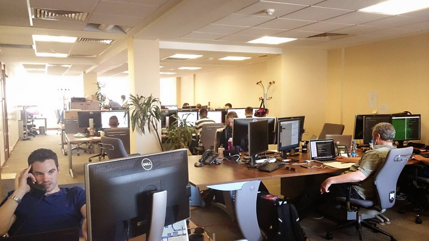 Rapid7 office at Arthur House (Notice the perfect Hathaway slouch!)