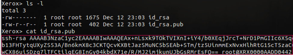 Figure 5: Verified SSH keys are generated