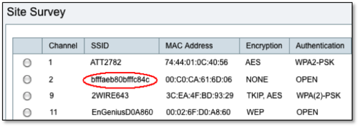 Figure1: Format String Injected Via SSID