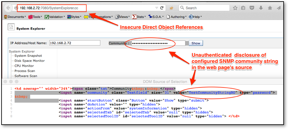 Figure 6: Information leakage via Insecure Direct Object Reference