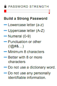 Figure 1: Password Rules