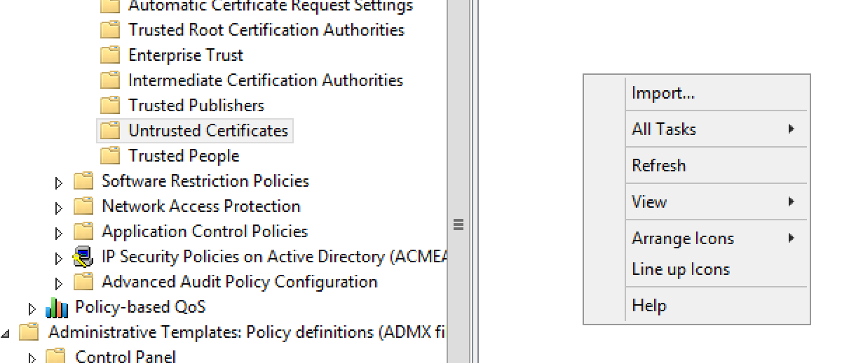 Revoking And Pinning Certificate Authorities In Windows