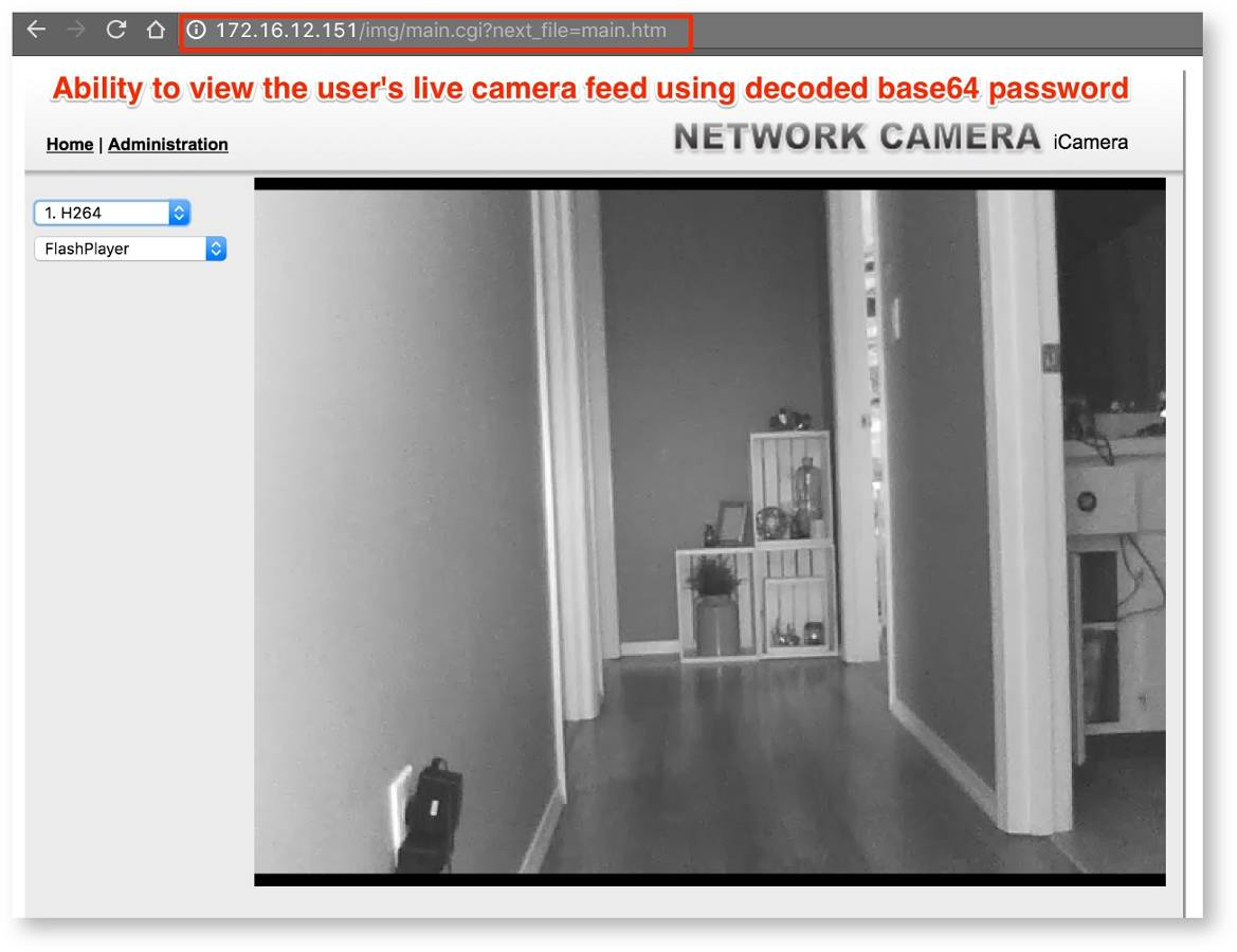 Figure 15: Video capture from the researcher's residence