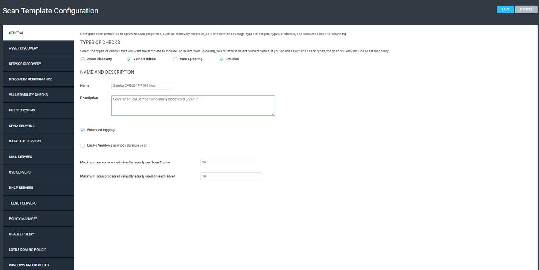 Samba CVE-2017-7494: Scanning and Remediating in InsightVM