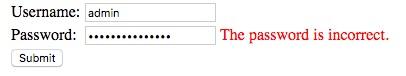 Figure 2: Username is Valid