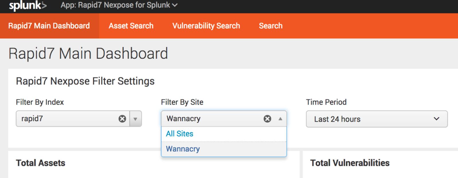 WannaCry Vulnerabilities in Splunk? InsightVM Splunk Integration