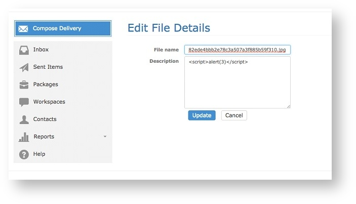 Figure 4: Editing file details