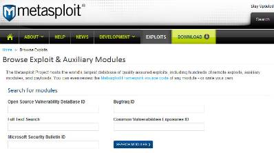 Top 10 Most Searched Metasploit Exploit and Auxiliary Modules